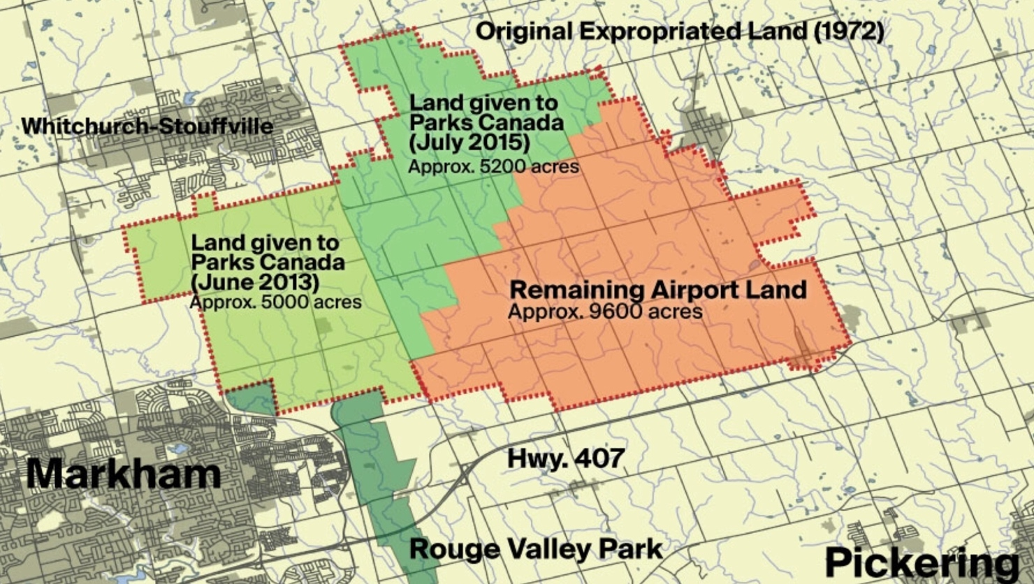 Who is Leasing the Pickering Airport Lands?