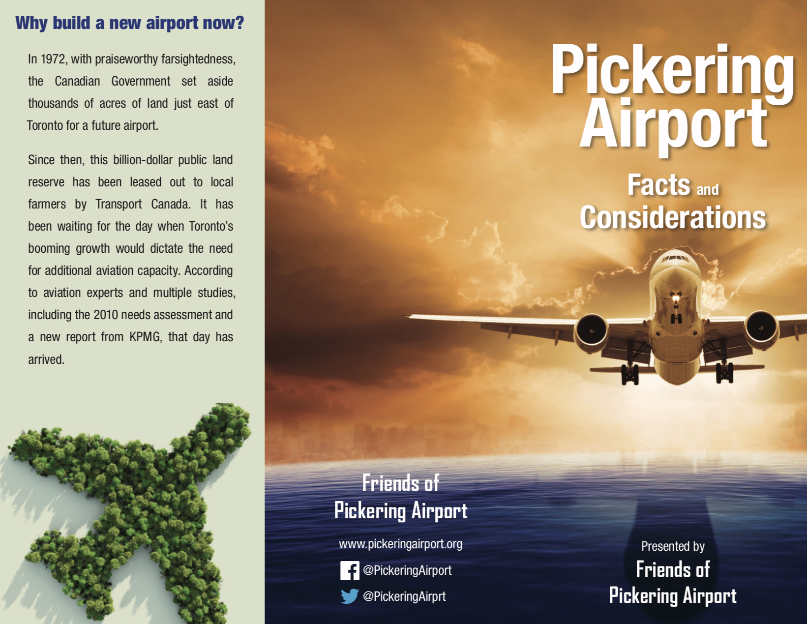 Pickering Airport Brochure: Facts and Considerations