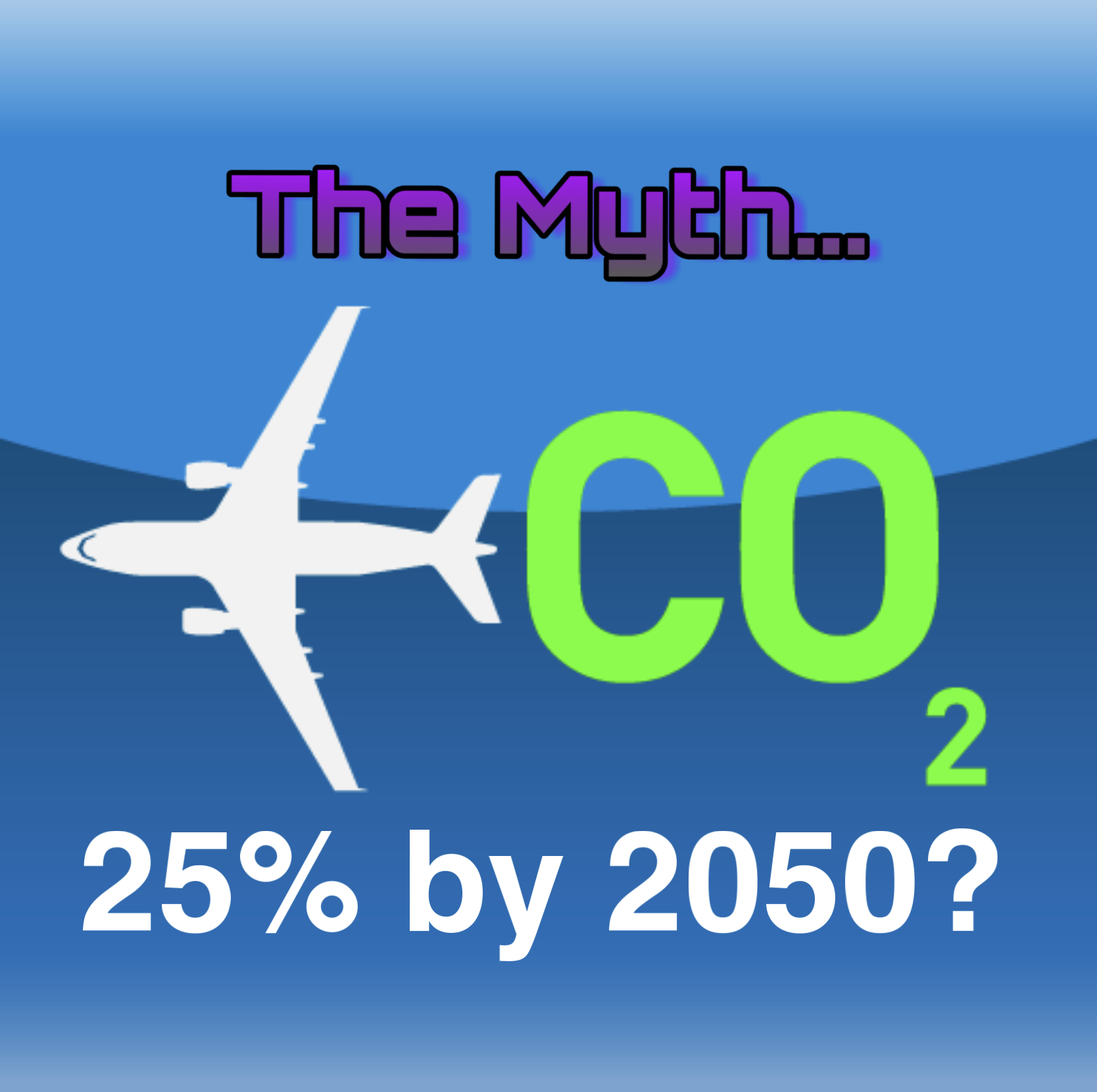 Aviation 25% of carbon emissions by 2050 is a Myth